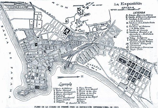 """El barrio de """"La Exposición"""" a la derecha. El Casco Viejo a la izquierda."""