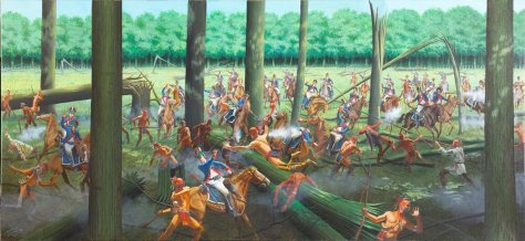 Photo of a painting depicting the Battle of Fallen Timbers taken by the Kentucky National Guard Public Affairs Office , I doubt the Kentucky National Guard Public Affairs Office endorses my work. My use of this image should not imply that the Office does endorse my work.