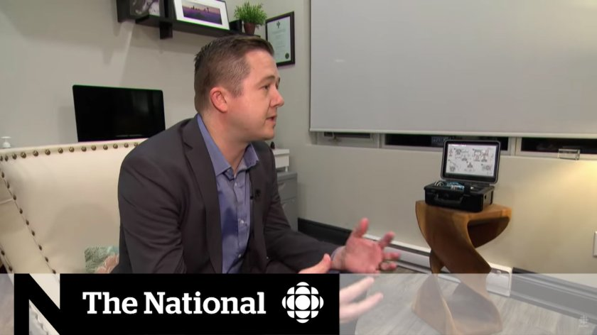 Andrew Holmes discusses the risks of sleep apnea on CBC's The National