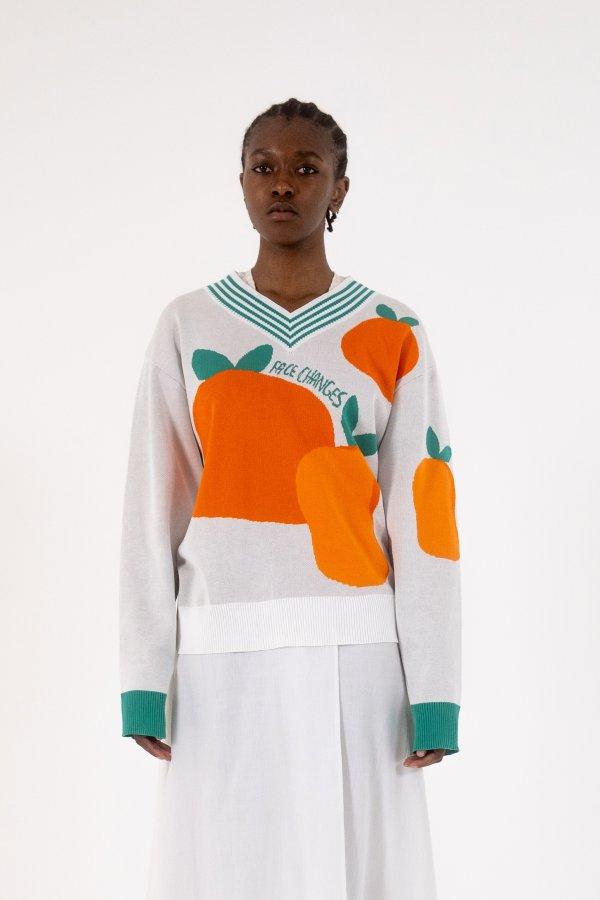 Oranges Sweater Face