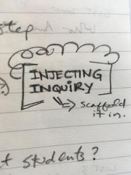 INJECTING INQUIRY - We introduced inquiry to nurture a sense of curiosity regarding the feelings, behavior, and actions of ourselves and others, with a goal of developing deeper questions about the relationship between performance and everyday life.We began with an interview activity to learn each other's tastes and habits.  We asked