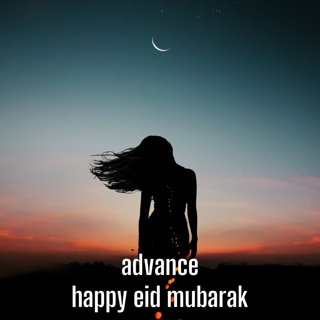 Beautiful Advance Eid Mubarak Happy Image full HD free download.