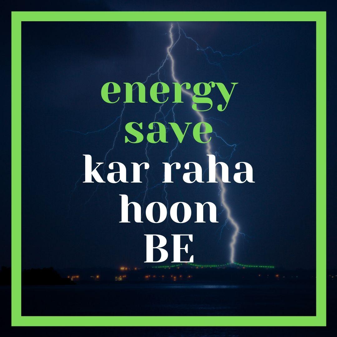 Energy save kar raha hoon be Funny WhatsApp Dp Image full HD free download.