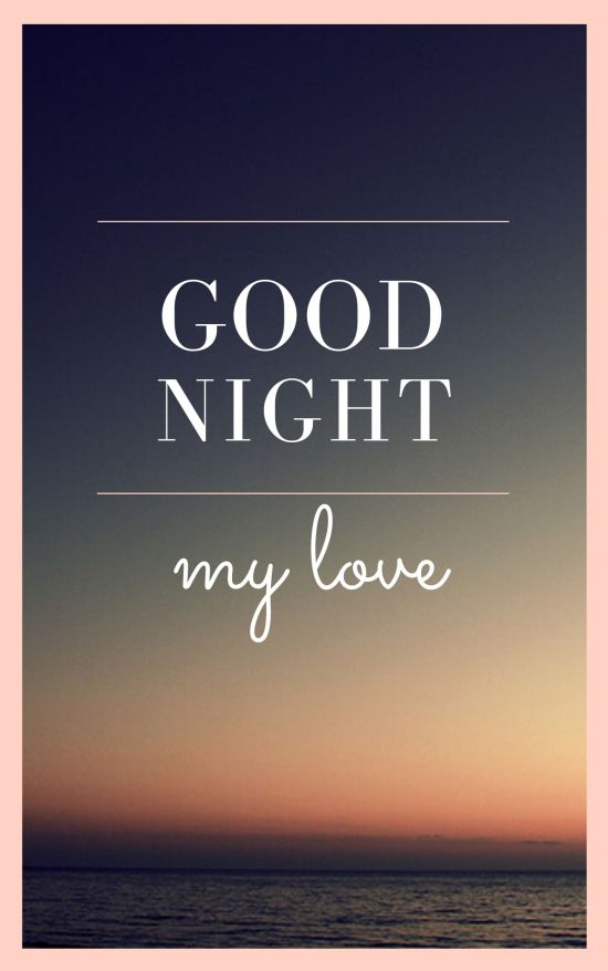 Good Night My Love Image