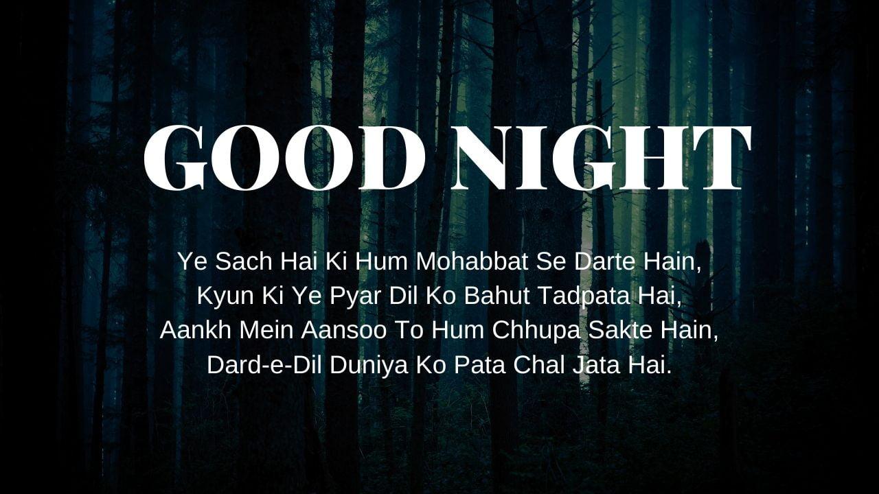 Good Night Shayari Pic download full HD free download.
