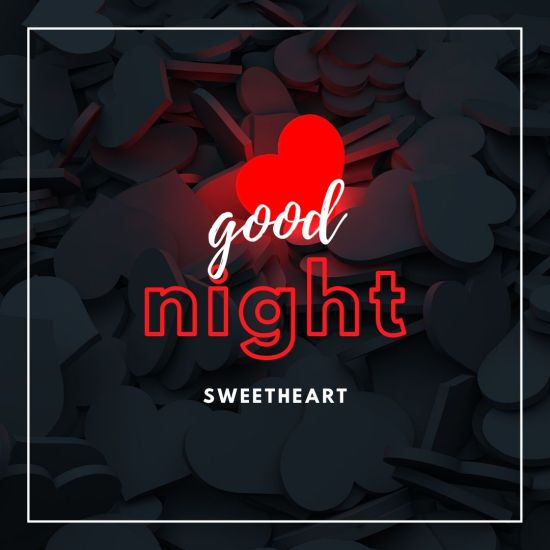 Good Night Sweet Heart Image with love symbol