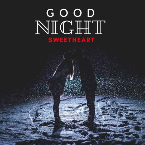 Good Night Sweet heart image kissing couple