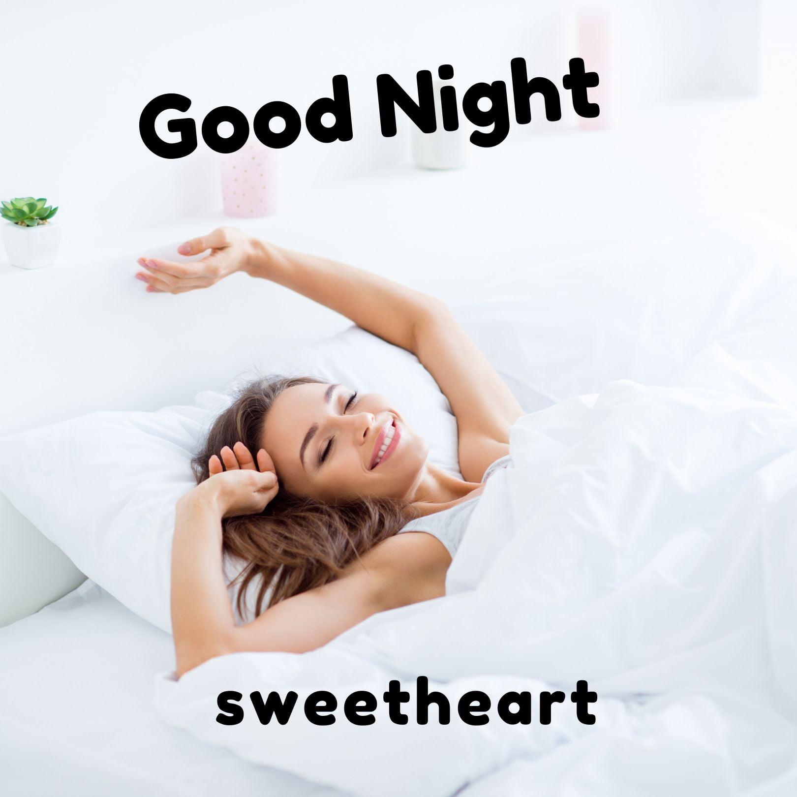 Good Night Sweetheart Image full HD free download.