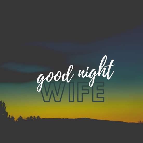 Good Night Wife Pic