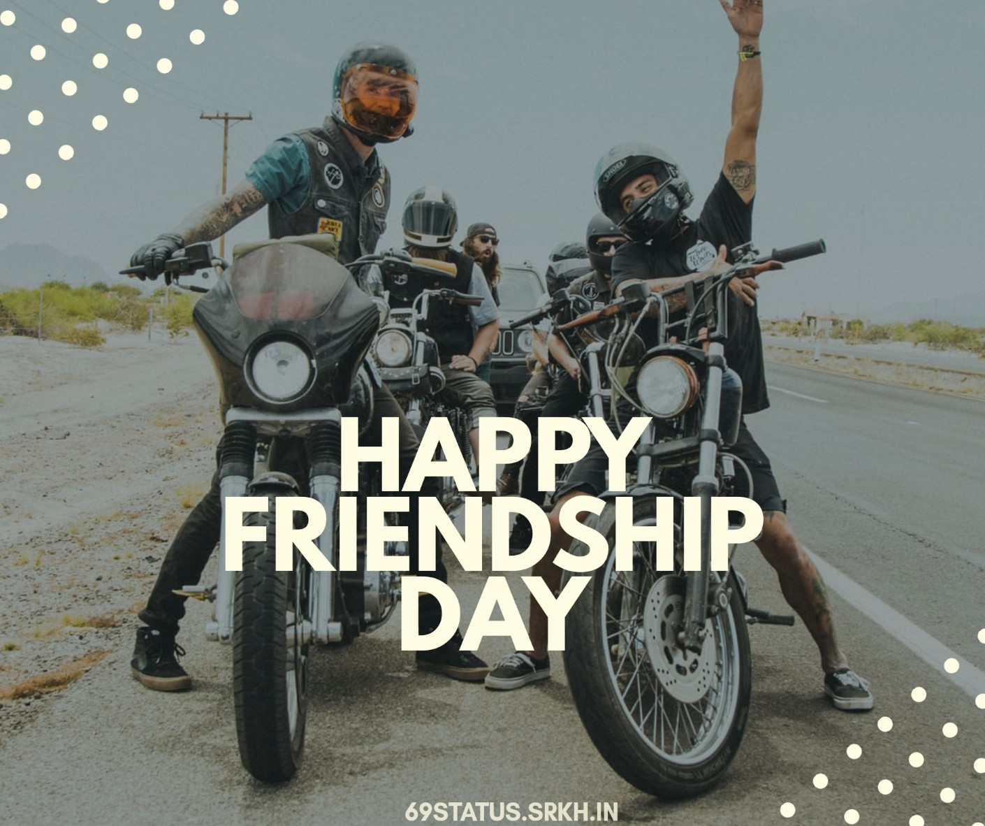 Happy Friendship Day Images for Facebook Biker Gang full HD free download.