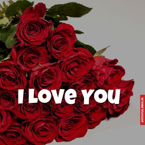 I Love You flowers images full HD free download.