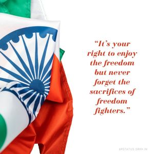 Independence Day Quote with Image full HD free download.