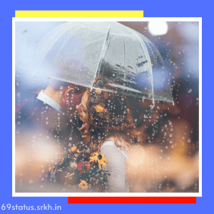 Love Couple Image in Rain Couple With One Umbrella full HD free download.