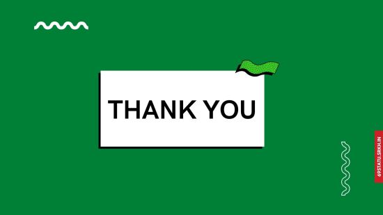 Thank You Images for Presentation in Green