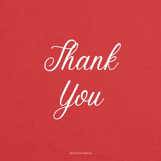 Thank You Images in Red