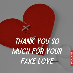 Thank You for Your Fake Love Images full HD free download.