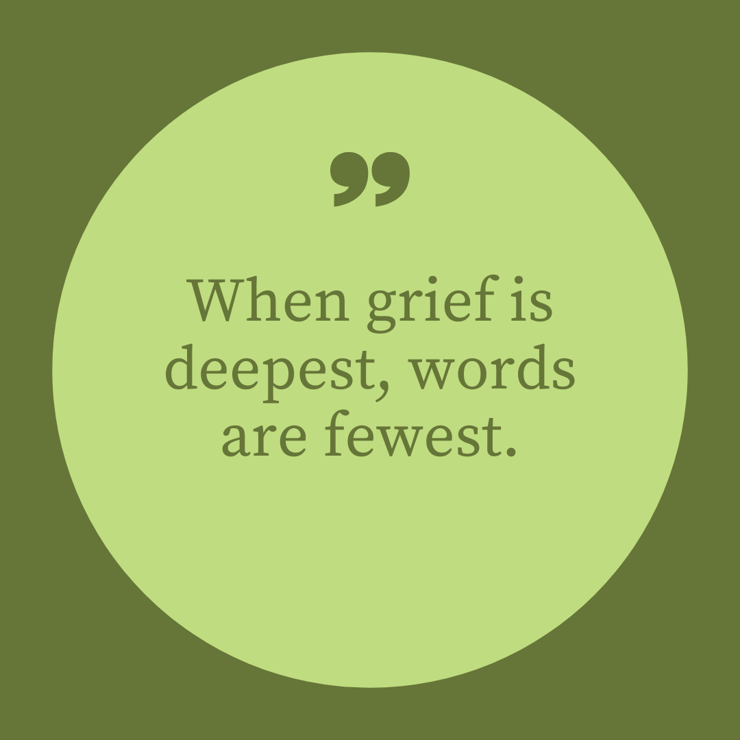 Whatapp Dp When grief is deepest words are fewest full HD free download.