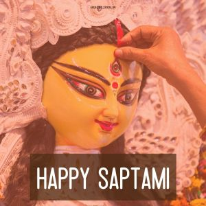 Happy Saptami Durga Puja Image full HD free download.