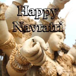 Happy Navratri 3d Image full HD free download.