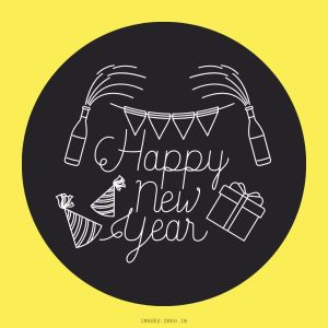 Happy New Year Drawing full HD free download.