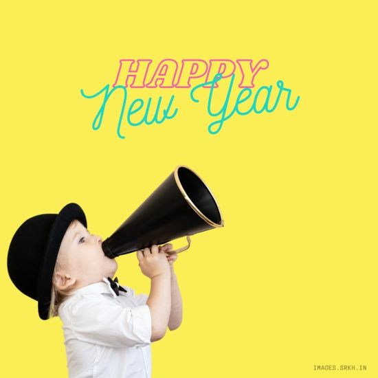 Happy New Year Funny Kid