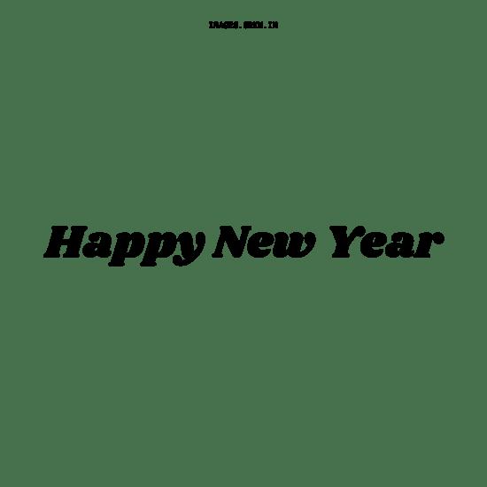 Happy New Year Text Black