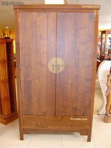 Armario chino oriental 2 puertas estilo mueble asiatico