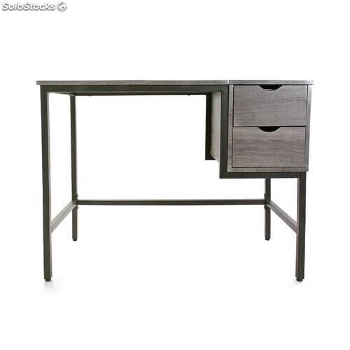 bureau pvc acier bois mdf 48 x 76 x 100 cm