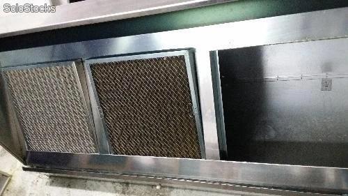 Campana industrial tres filtros