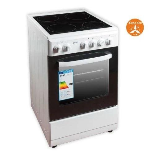 Cocina Blanca Vitroceramica y horno Elctrico svan SVK5502EVB