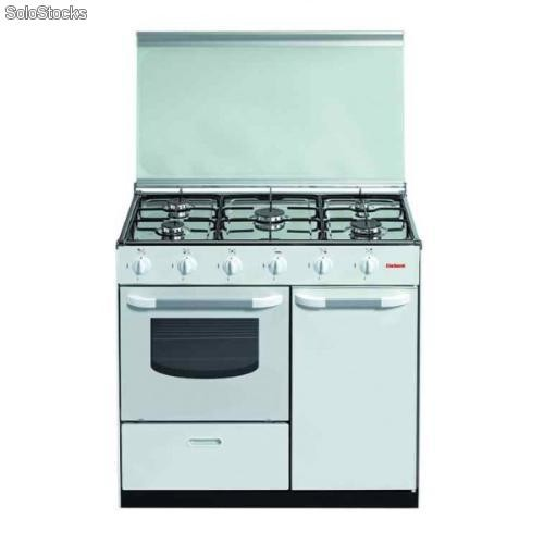 Cocina corbero cc5gb90w 90 5 Fuegos blanco butano