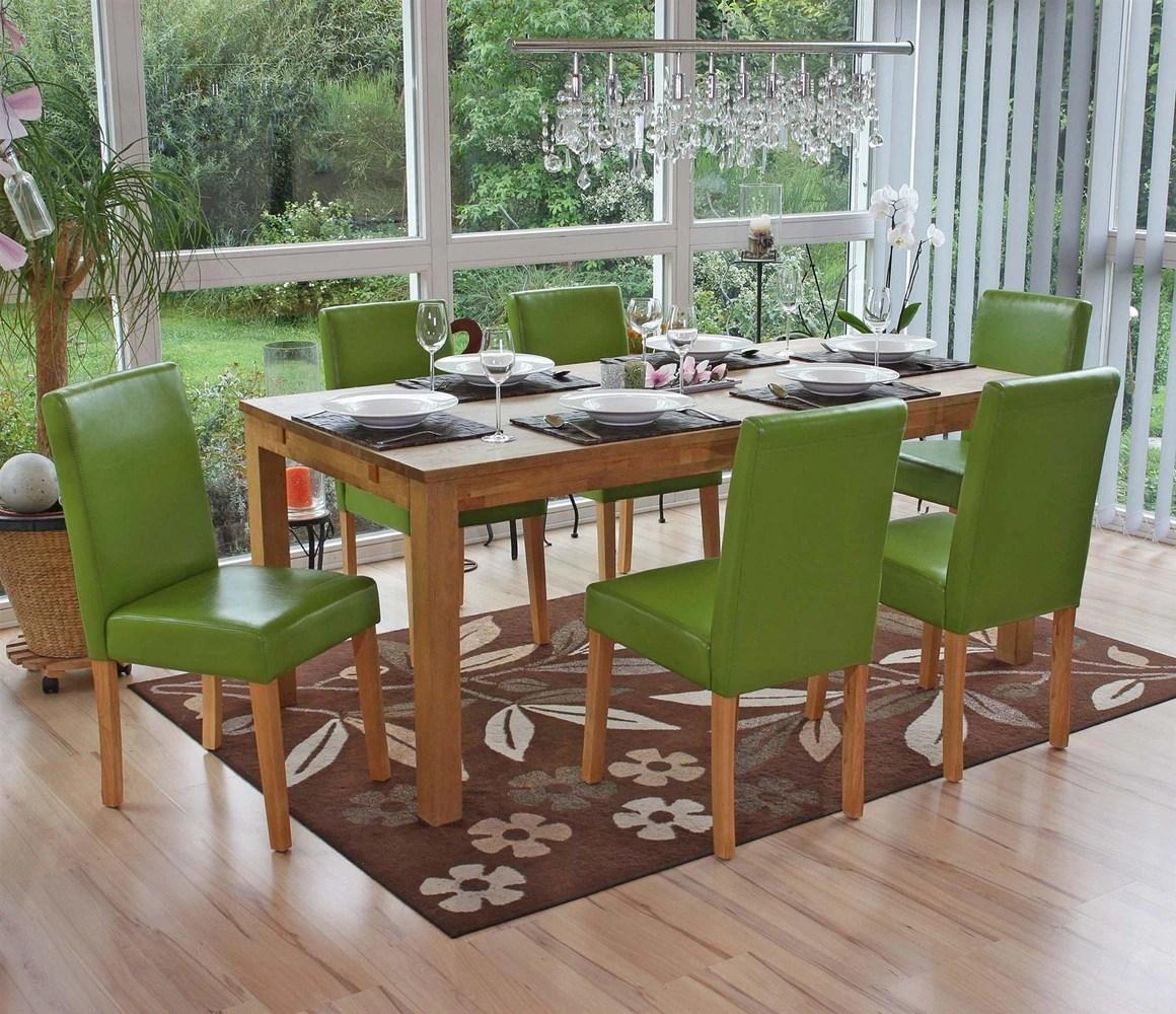 Cojunto 6 Sillas de Comedor LITAU en color Verde
