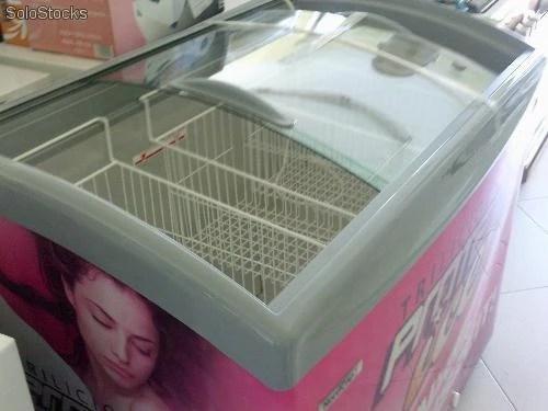Congelador para helado tapa cristal
