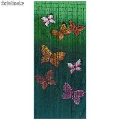 Cortina para puerta de Bamb Mariposa