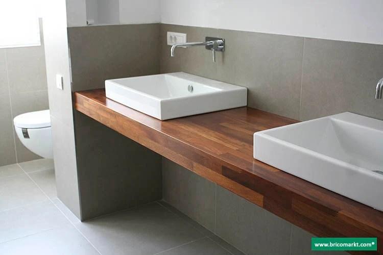 Encimeras madera iroko baos cocinas mesas