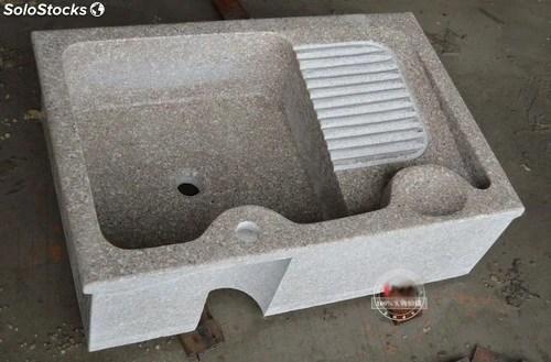 Fregaderos de piedra para exterior 75x50x22cm lavado de