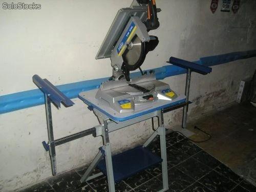 Ingletadora Virutex TM33L con mesa de trabajo