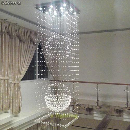 Lampara de cristal para techo araa modelo gota de lluvia