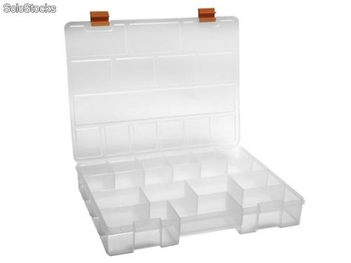 Maletin organizador clasico plastico 14 compartimentos