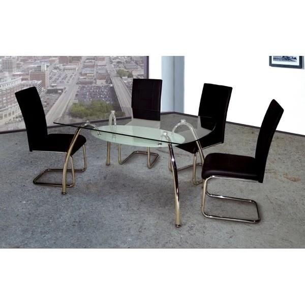 Mesa de cristal Ovalada 150x90