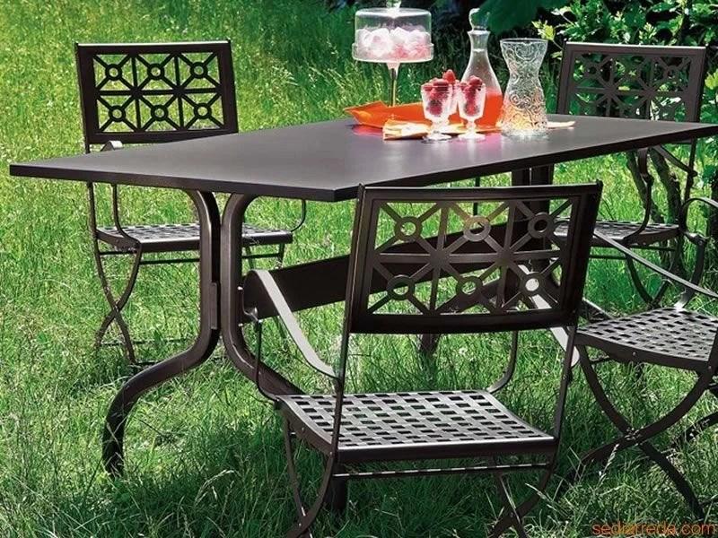 Mesa de jardin hierro Achille 140x80