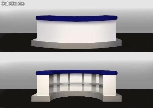 Mesa mostrador circular para eventos y ferias barato