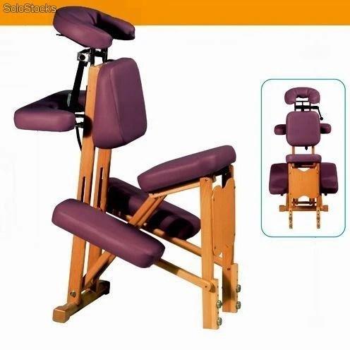 Mobiliario y camillas medicas r silla de masaje de madera