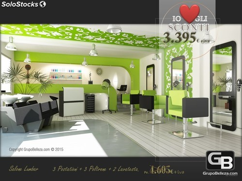 mobilier salon de coiffure salon complet lumbar promo 3 395