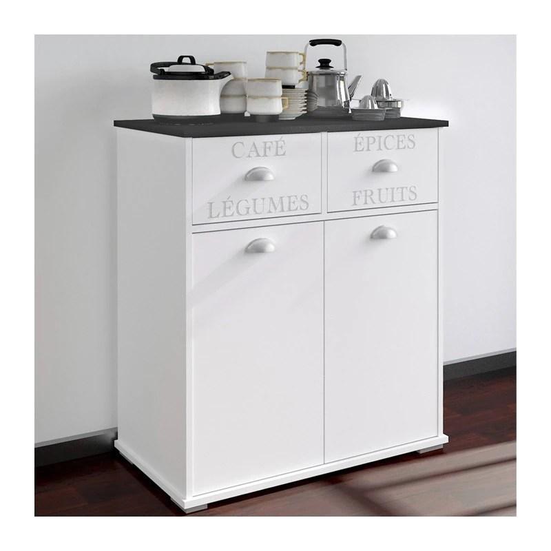 Mueble Auxiliar Cocina Blanco 2 Puertas  2 Cajones Ref352992