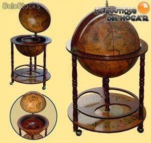 Mueble Bar Globo Terraqueo Diseo italiano madera cartografia