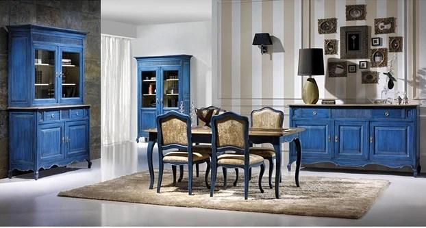 mueble de teca decapado en azul