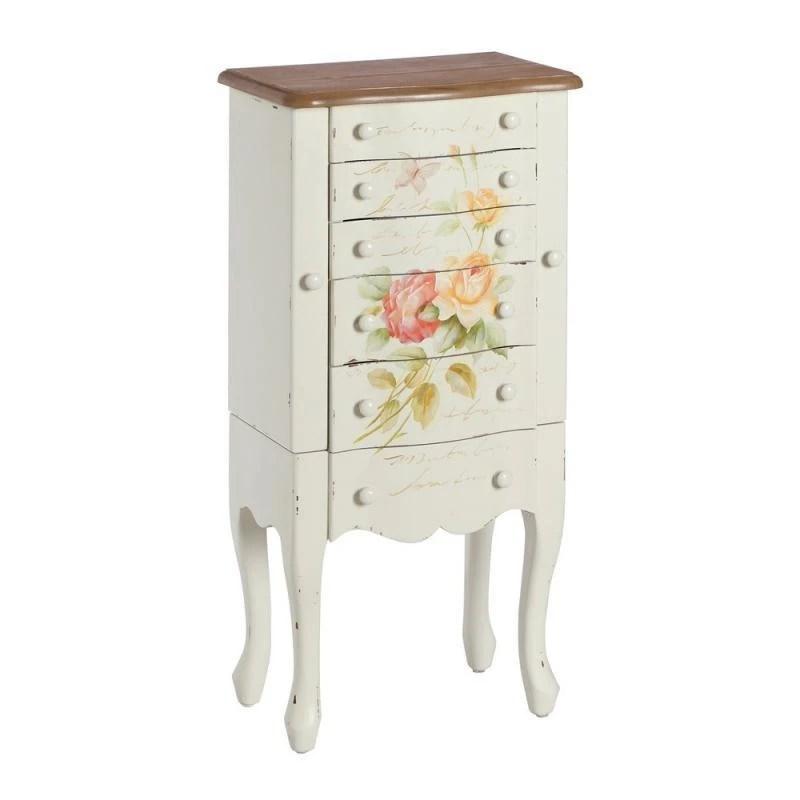 Mueble joyero blanco envejecido madera 4350x2750x92cm