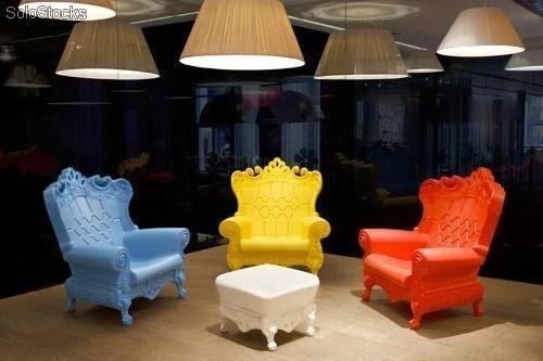 Sedia poltrona design moderno in plastica polietilene