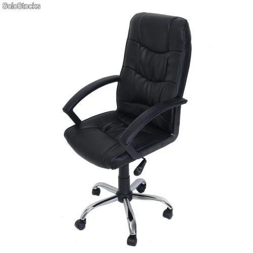 Silla de oficina silla ejecutiva silla de cuero negro